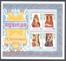 Antigua Bloc-feuillet YT N°17 Noel 1974 Neuf ** - Antigua Et Barbuda (1981-...)
