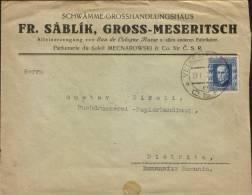 """Czechoslovakia-Custom Envelope With """"Eau De Cologne Russe"""" 1925 -Parfumerie Du Soleil Mecnarowski & Co - Magazines"""