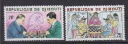 DJIBOUTI    1980        DES JEUX D'2CHECS      N°   519 / 520       COTE       3.75  €             ( 84 ) - Djibouti (1977-...)