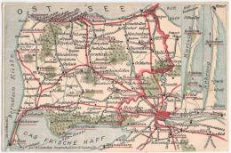 Bernsteinküste Kurische Nehrung Memel Nidden Map August 1928 Königsberg Cranz Heydekrug Pillau Preil Perwelk - Cartes Géographiques