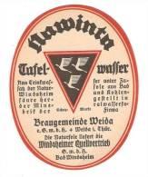 Weida Braugemeinde † 1988 Thüringen, NAWINTA - Bier