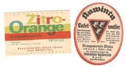 Weida Braugemeinde † 1988 Thüringen, NAWINTA & Limonade - Bier