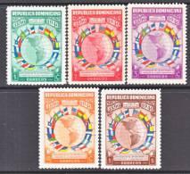 Republica Dominicana  351-5   *   PAN- AMERICAN  UNION  FLAGS - Dominican Republic