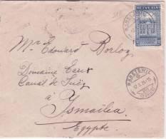 1924- Enveloppe De BÄRETSWILL  Affr. N°  168 A  SEUL   Pour L'Egypte - Suisse