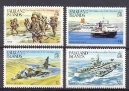Mnp170 TRANSPORT SCHEPEN VLIEGTUIG PLANES ROYAL AIR FORCE HELICOPTER SHIPS SCHIFFE BATEAUX FALKLAND ISLANDS 1983 PF/MNH# - Transport