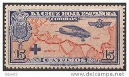 ES341-LA245TTA.España, Spain,  Espagne. Cruz Roja.AEREA1926 (Ed 341**) Sin Charnela.EXCELENTE - Aviones