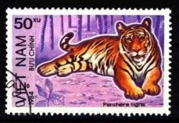 Vietnam / Nordvietnam: 'Tiger, Panthera Tigris, 1984', Mi. 1411; Yv. 484 C; Sc. 1364 Oo - Roofkatten