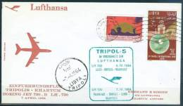 LIBYA FFC Lufthansa First Flight Cover TRIPOLIS To KHARTUM 1964 - Libya