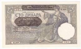 Serbia 100 Dinara 1941. AUNC P-23 - Serbie