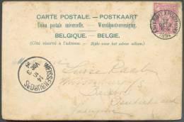 N°69 - 10 Centimes Exposition D´Anvers Obl. Sc ANVERS (EXPOSITION) Sur Carte Vue (illustrée : Oud Antwerpen - Souvenir D - 1894-1896 Expositions