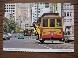 Etats Unis     San Francisco       California    Cable  Cars Bus - Postcards