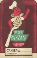 PUBLICITE PROTEGE CAHIER  PUBLICITAIRE  PATES PANZANI ILLUSTRATEUR MORVAN - Alimentare