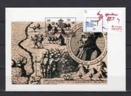 """ESPAGNE 1988 CM """" 500 ANS DE LA DECOUVERTE DE L´AMERIQUE : NUNEZ DE BALBOA """". N° YT 2586. Parfait état + Prix Dégr ! - Maximum Kaarten"""