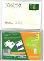 5 PAP Sous Blister Meilleurs Voeux 2000 Avec Cartes De Correspondance N° 3364-E1 à E5 Petit Modèle Cote Y & T 2008 :15 € - Entiers Postaux