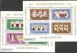 Romania 1981 BF Nuovo** - Mi.178/9  Yv.148/9 - Blocchi & Foglietti