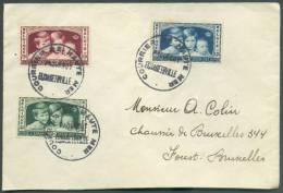 Série Enfants Royaux Obl. Sc COURRIER DE HAUTE MER/PAQUEBOT ELISABETHVILLE Sur Lettre Vers Forest.  TB  - 8723 - Belgique