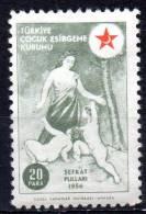 TURKEY 1956 Child Welfare - Woman & Children - 20pa. - Olive    MH - Liefdadigheid Zegels