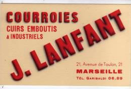 Buvard J LANFANT COURROIES CUIRS EMBOUTIS INDUSTRIELS MARSEILLE - Moto & Vélo