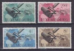 Luxembourg 1949 Mi. 460-63 Weltpostverein UPU 75th Anniversary Complete Set !! MNG - Luxemburg