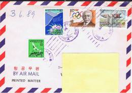 ROK Republik Korea (Südkorea) 1988 1989 Mi 1567-68 1584 Brief - Korea, South