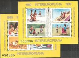 Romania 1989 BF Nuovo** - Mi.254/5  Yv.203/4 - Blocchi & Foglietti