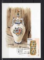 """ESPAGNE 1987 CM """" ARTISANAT ESPAGNOL : VASE DECORE VALENCE 15° SIECLE """". N° YT 2506. Parfait état + Prix Dégressif ! - Maximum Kaarten"""
