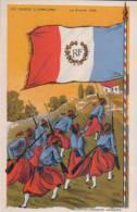 Les Turcos à Charleroi Drapeaux Français, Litho Par U.M. (3126) - Guerra 1914-18