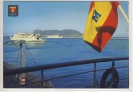 ALGECIRAS - View Of The Harbour And Penon, Cruise Ship - Ca 1970 - Cádiz