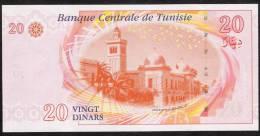 TUNISIA   P93  20   DINARS   2011    UNC. - Tunisie