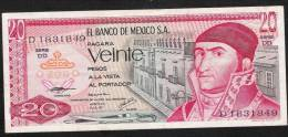 MEXICO  P64d   20  PESOS   8 JULY 1977   VF - Mexico