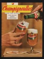 Pub Papier 1962 BOISSON Biere CHAMPIGNEULLES Brasserie Bieres Source Bellefontaine - Advertising