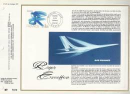 France - CEF 431 - Roger Excoffon - 1er Jour 17.12.1977 - Paris - Excoffon Oeuvre Originale - T. 1951 - Covers & Documents
