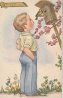 GARCON SIFFLE A L'OISEAU - Illustrateur - Enfants