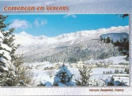 CORRENCON EN VERCORS    VUE GENERALE  EN HIVER - France