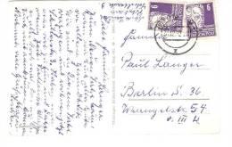 Bund - DDR - Deutsche Post  - 2x 328 6 Pf Gerhart Hauptmann Auf Postkarte - [6] Democratic Republic