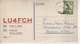 SANTA FE  AÑO 1975   REPUBLICA ARGENTINA CIRCULADA  Q. S. L.  OHL - Tarjetas QSL