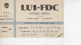 CORONEL BOGADO SANTA FE  AÑO 1966   REPUBLICA ARGENTINA CIRCULADA  Q. S. L.  OHL - Tarjetas QSL