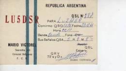 GENERAL BELGRANO  AÑO 1966  REPUBLICA ARGENTINA CIRCULADA  Q. S. L.  OHL - QSL Cards