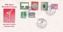 BRD Sonderstempel Deutsches Turnfest 1958 - MiF Bund/Berlin - Covers & Documents