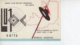 SALTA  AÑO 1975  REPUBLICA ARGENTINA CIRCULADA  Q. S. L.  OHL - QSL Cards