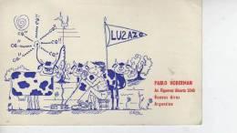 BUENOS AIRES   AÑO 1975  REPUBLICA ARGENTINA CIRCULADA  Q. S. L.  OHL - QSL Cards