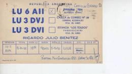BUENOS AIRES   AÑO 1975  REPUBLICA ARGENTINA CIRCULADA  Q. S. L.  OHL - Tarjetas QSL