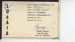 BUENOS AIRES   AÑO 1967  REPUBLICA ARGENTINA CIRCULADA  Q. S. L.  OHL - Tarjetas QSL