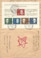 1959 Beethovenblock Auf Brief Mit Sonderstempel KW Ca. 120 Euro - Lettres & Documents