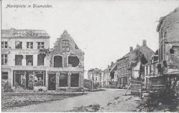 AK Dixmuiden,Marktplatz ,zerschossen   Feldpost,1.WK - Diksmuide