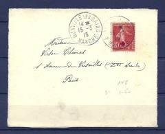 Briefstukje Van Donville Les Bains Naar Paris  15/03/1915  (GA5784) - Brieven En Documenten