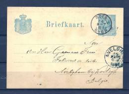 Briefkaart Van Goes Naar Avelghem (België) 14/03/1881 (GA5862) - Postal Stationery