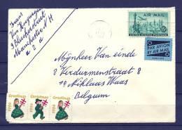 Brief Van Manchester Naar St Niklaas (Belgium)  06/12/1956  (GA5870) - Autres - Amérique