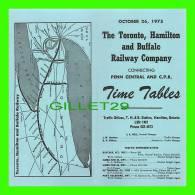 TIMETABLES, CANADA - TORONTO, HAMILTON & BUFFALO RAILWAY CO, - PENN CENTRAL & C.P.R.. - OCTOBER 26, 1975 - - World