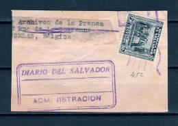 Briefstukje Van Diario Del Salvador Administracion  (GA5973) - Salvador
